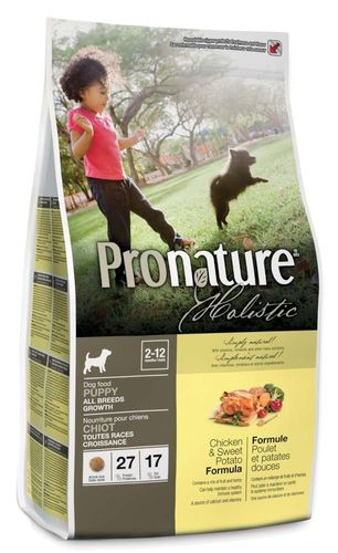 Pronature Holistic Puppy Kana & bataatti, koiralle, 13,6 kg