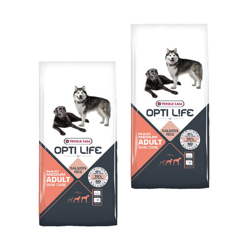 Opti Life Adult Skin Care Medium & Maxi 2 x 12,5kg