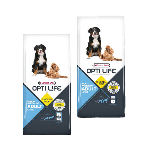 Opti Life Adult Light Medium & Maxi 2 x 12,5kg