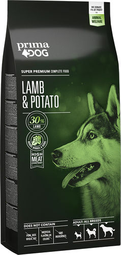 PrimaDog Adult All Breeds, lammas-peruna 2kg